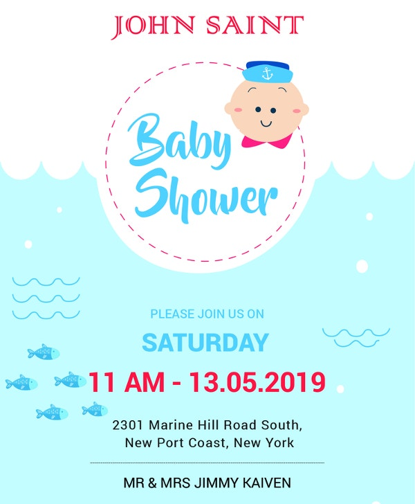 59 unique baby shower invitations free premium templates for Free baby shower invitation templates