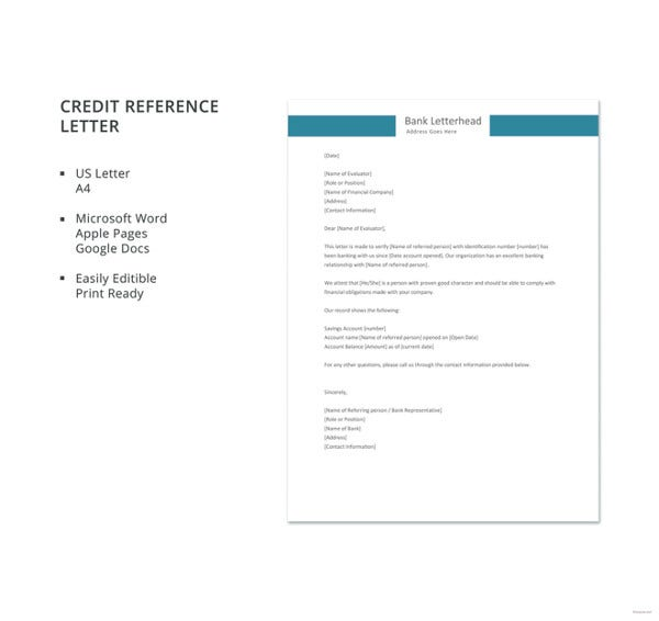 free-credit-reference-letter-template
