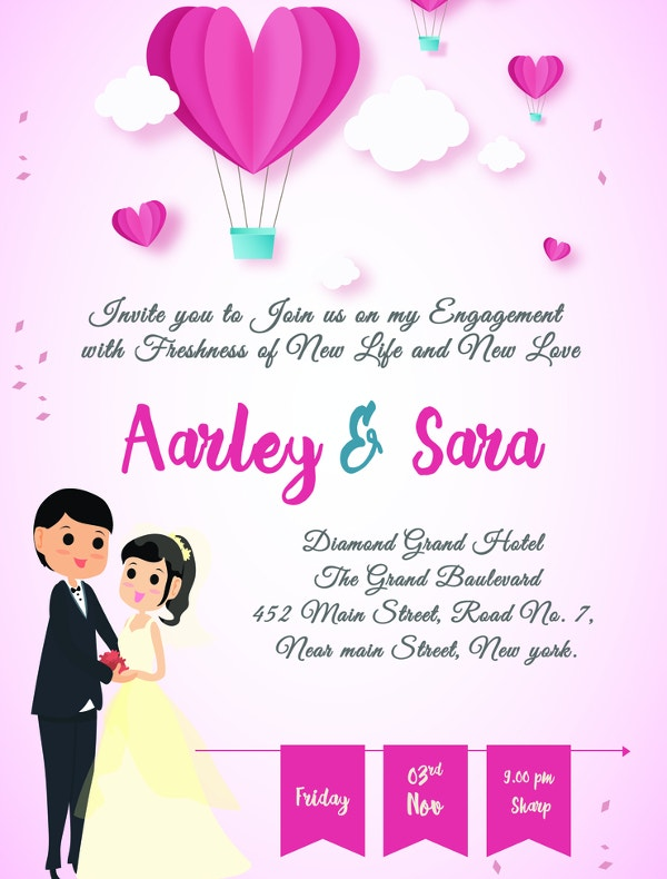 20+ Free Engagement Invitations -Free PSD,Vector AI,EPS Format ...