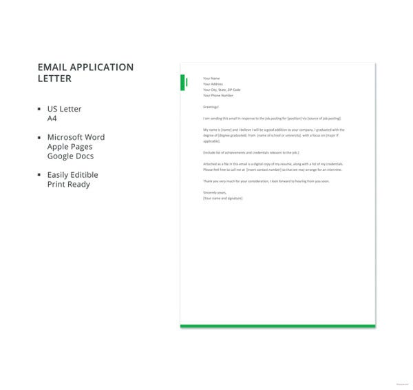 free-email-application-letter-template