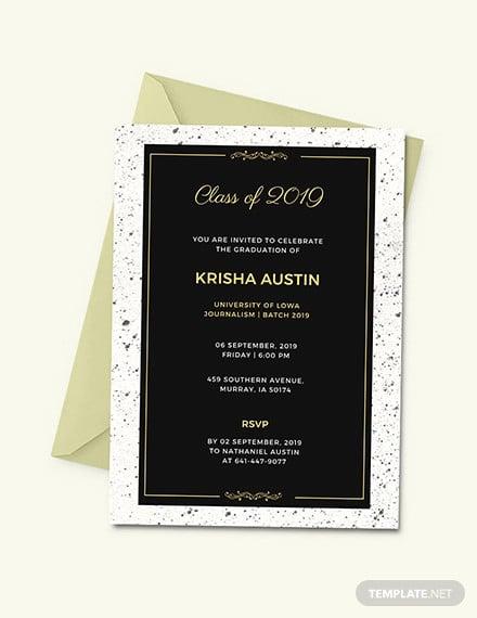 33 graduation invitation templates psd ai word free premium