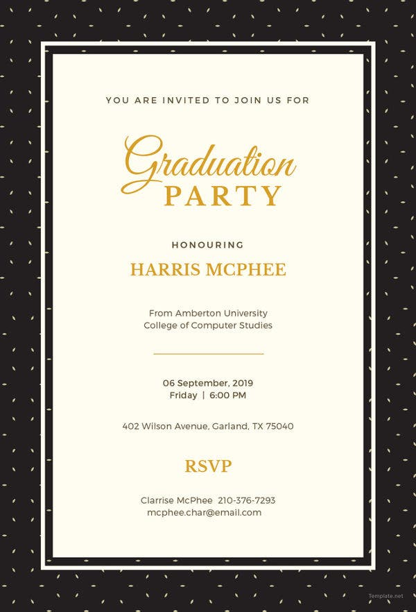 Graduation Invitation Template | 19 Graduation Invitation Templates Invitation Templates Free