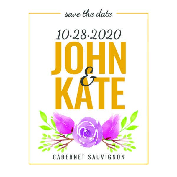 free save the date wine label template