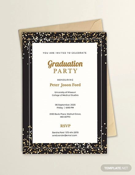 free simple graduation invitation template1