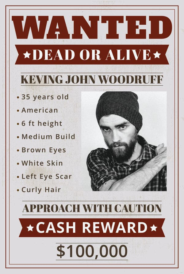14  old wanted poster templates
