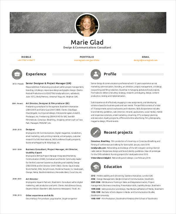 Simple Marketing Resumes Free Amp Premium Templates