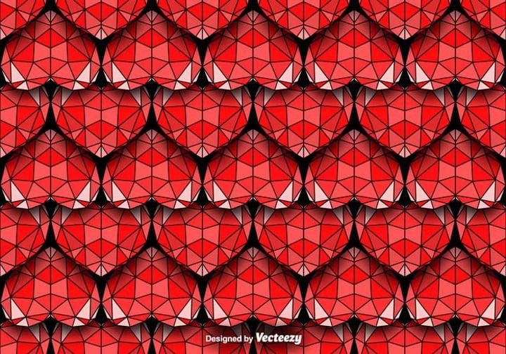 geometric-hearts