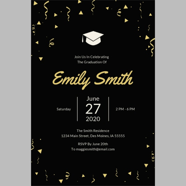 43 printable graduation invitations free premium templates graduation invitation template to print stopboris Gallery