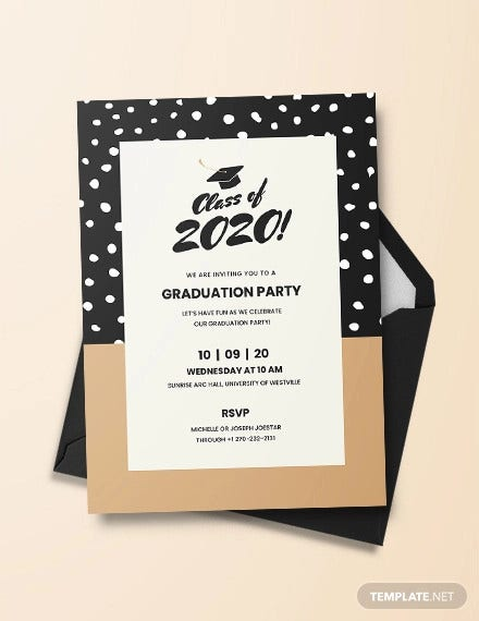 photograph relating to Printable Grad Cards titled 42+ Printable Commencement Invites - PSD, AI, Term No cost
