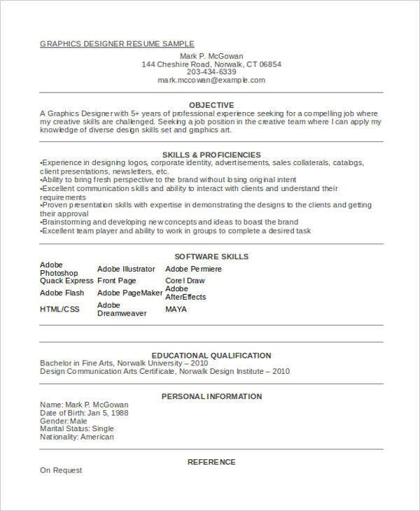 graphic designer fresher resume format4