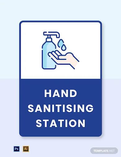 hand sanitizing station label template