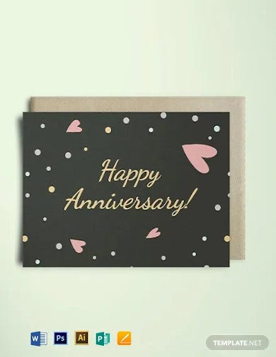 happy anniversary greeting card template