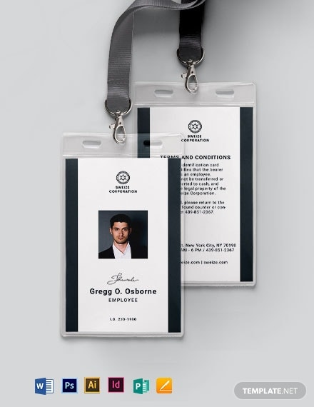 id card format template1