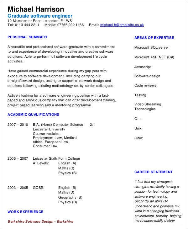 it work experience resume5