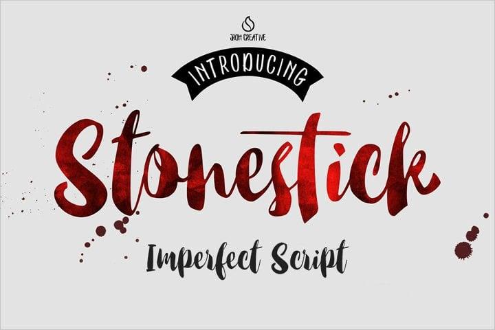 imperfect script font11