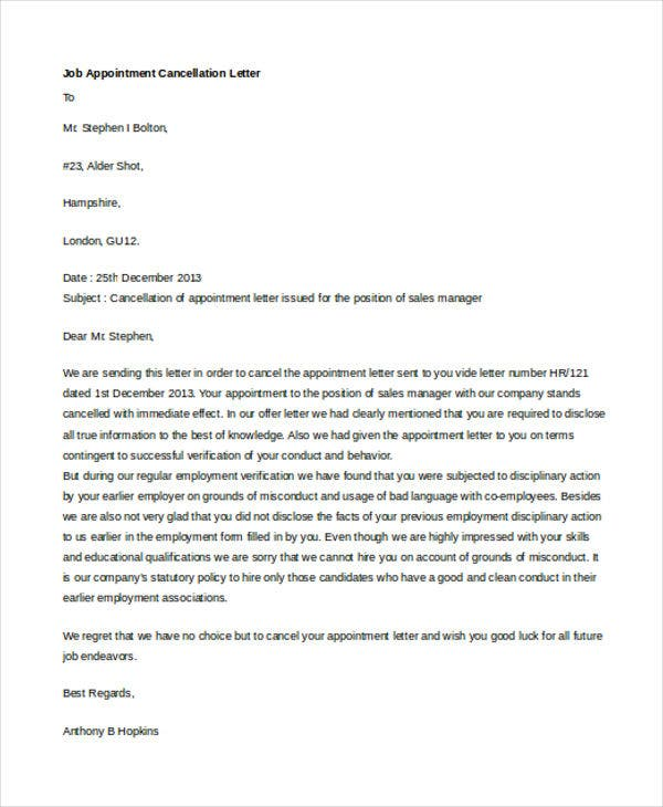job appointment cancellation letter1
