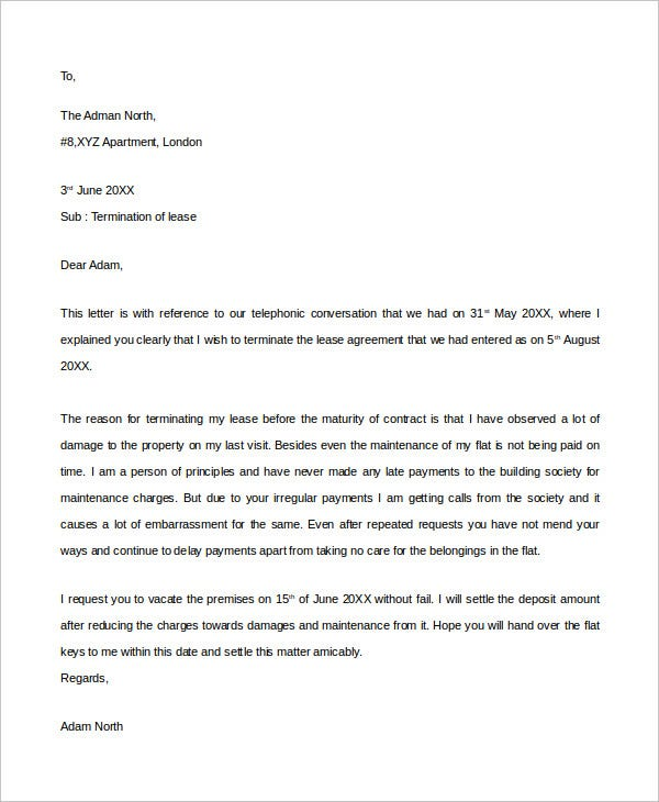 landlord lease termination letter4