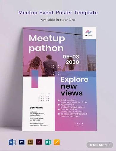 meetup event poster template