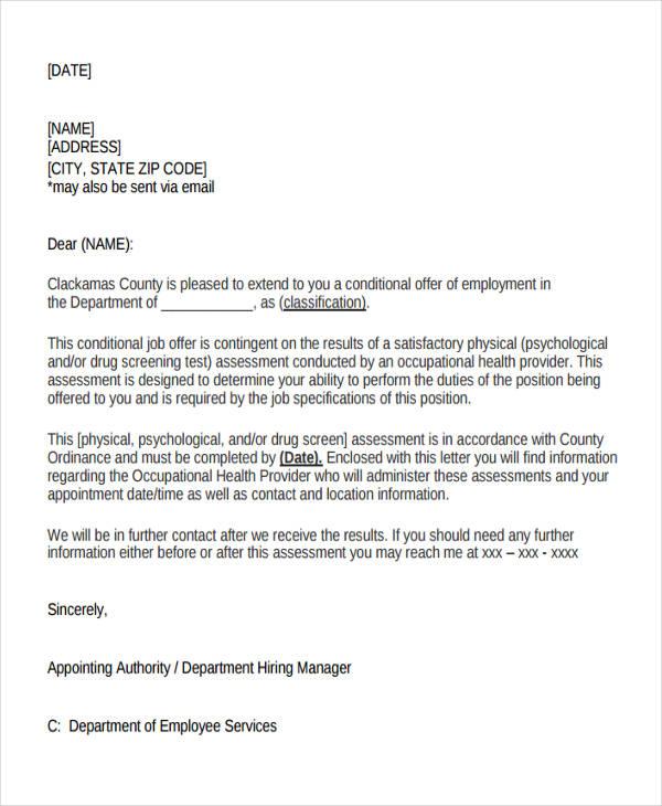 new employee letter