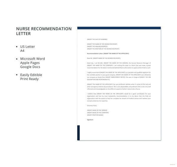 nurse-recommendation-letter-template