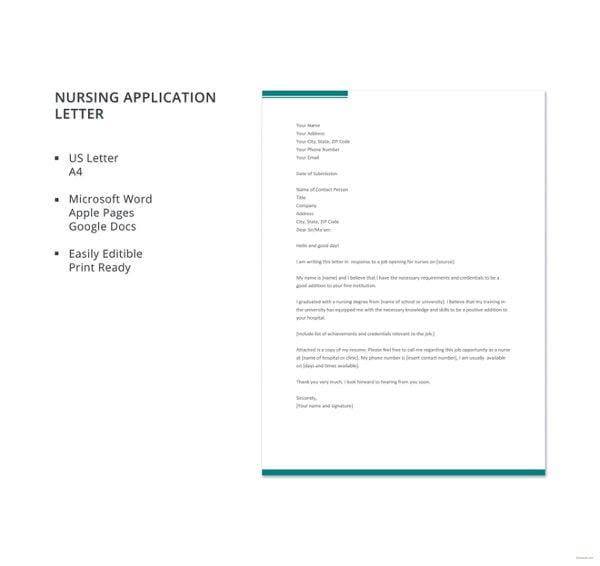 nursing-application-letter-template