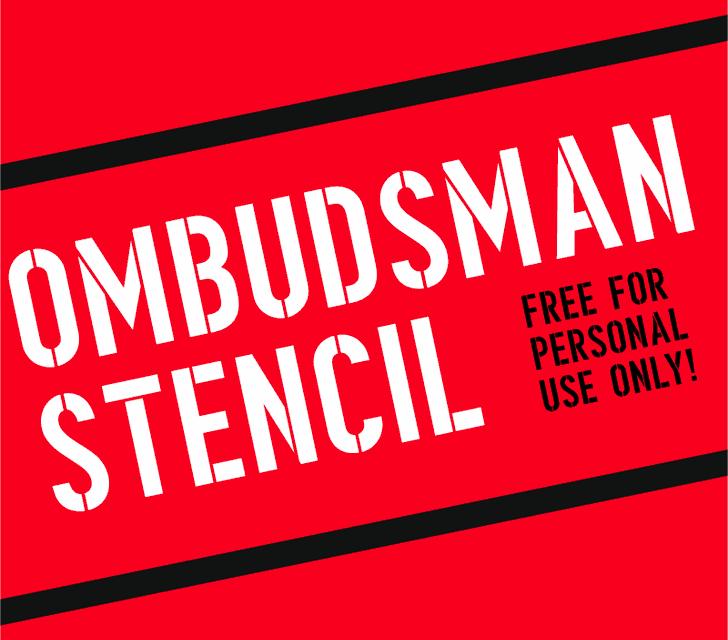 ombudsman stencil