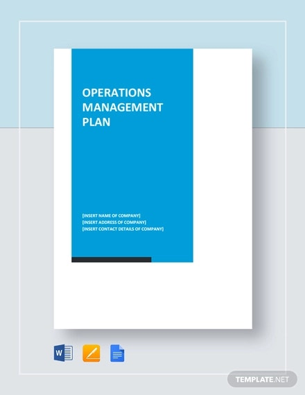 operations management plan template