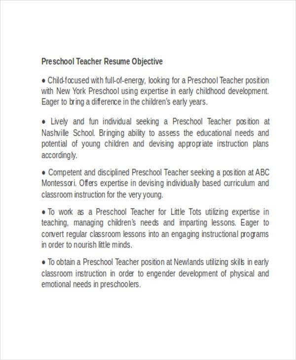 Teacher Resume Formats  Free  Premium Templates