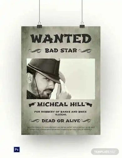 printable cowboy wanted poster template