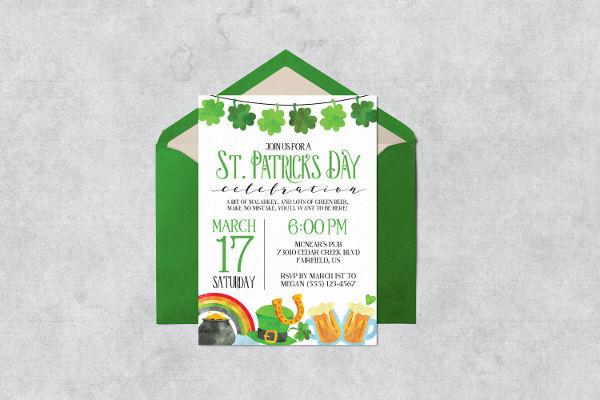 Printable St. Patrick's Day Invitation