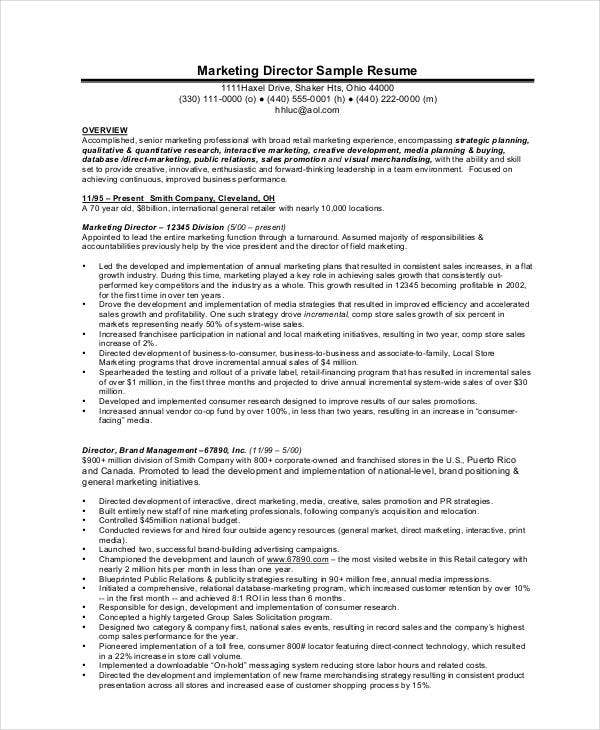 product marketing director resume5