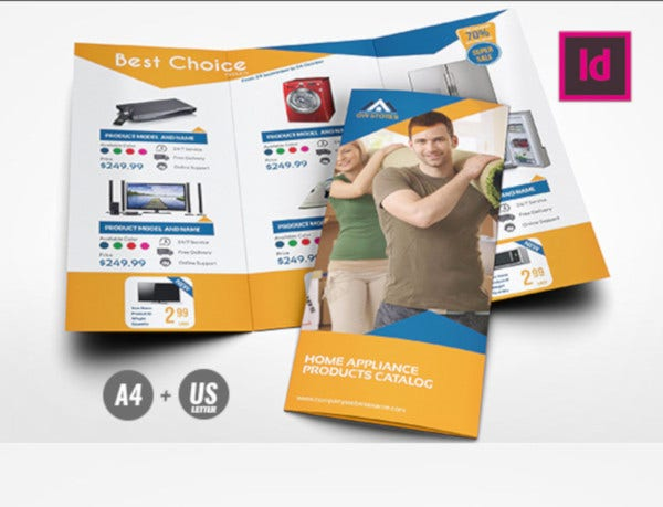 products tri fold brochure template
