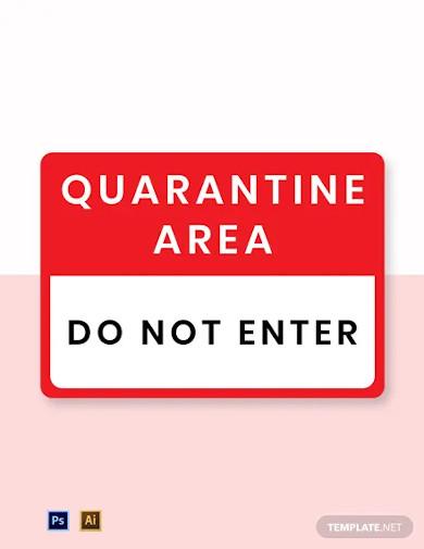 quarantine do not enter label template