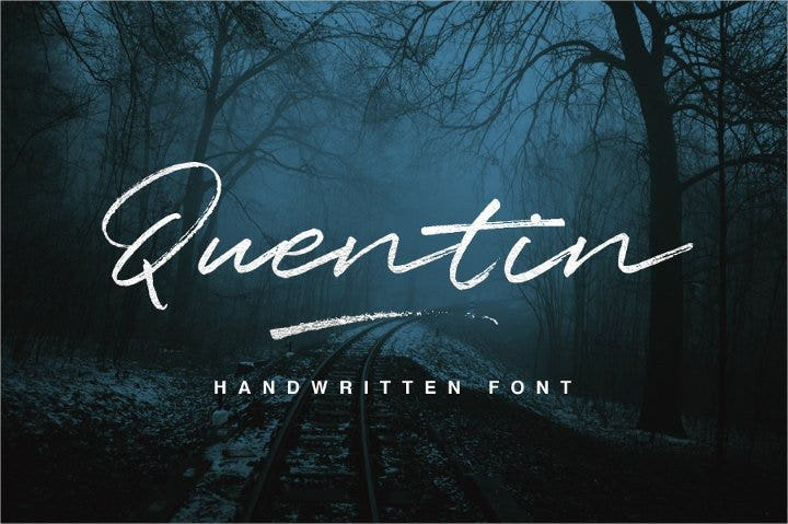 quentin free font21