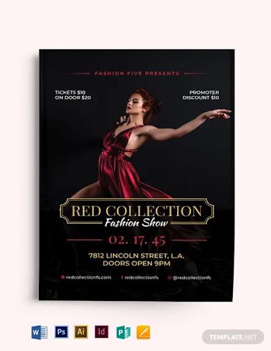 red velvet fashion show flyer template
