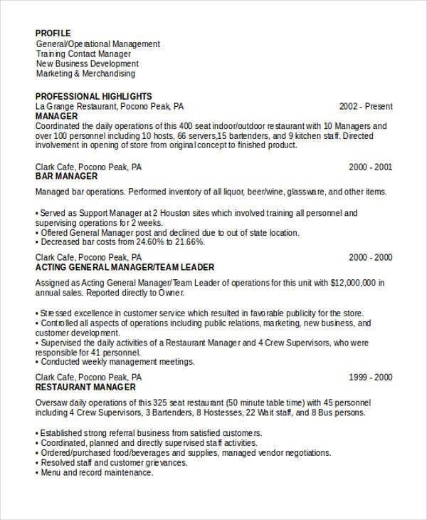 restaurant-marketing-manager-resume