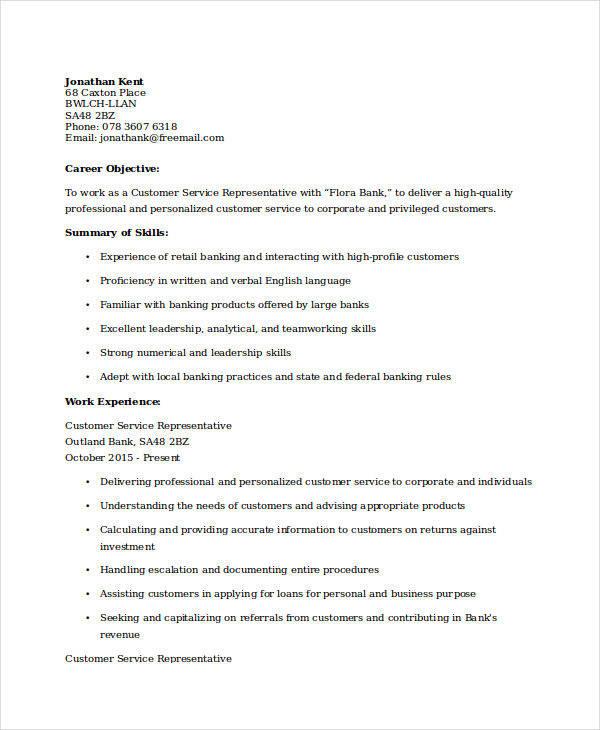 retail banking experience resume5