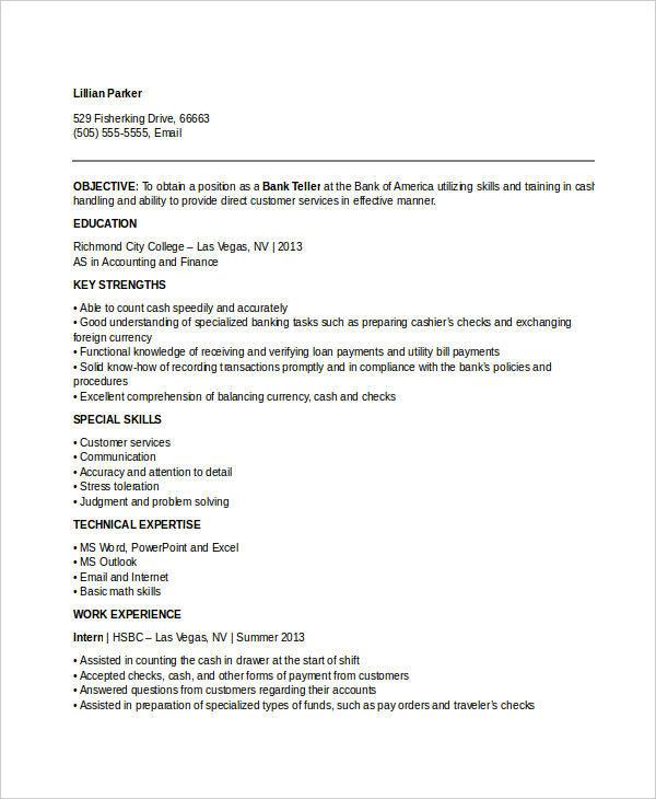 retail banking teller resume4