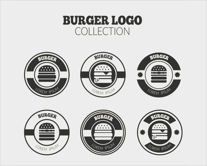 round burger logo