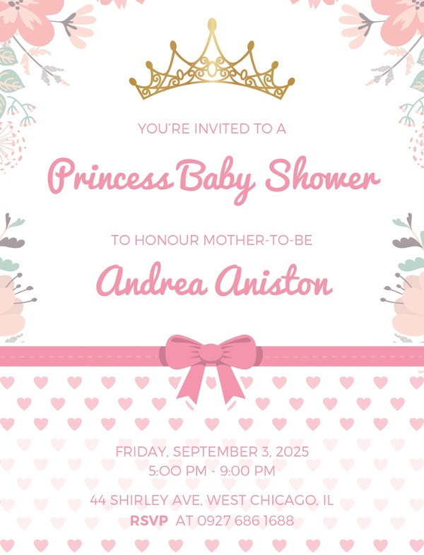 59 unique baby shower invitations free premium templates sample princess baby shower invitation template filmwisefo
