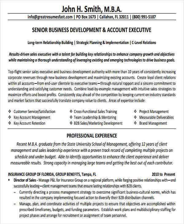 senior business development executive