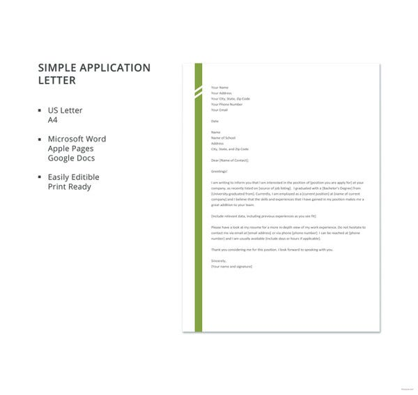 simple-application-letter-template