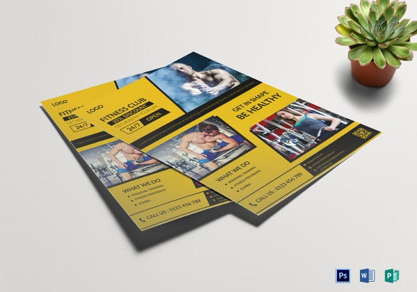 simple-fitness-salon-flyer-template