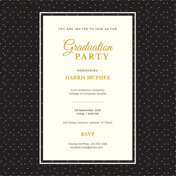 45 graduation invitation designs free premium templates simple graduation invitation template filmwisefo