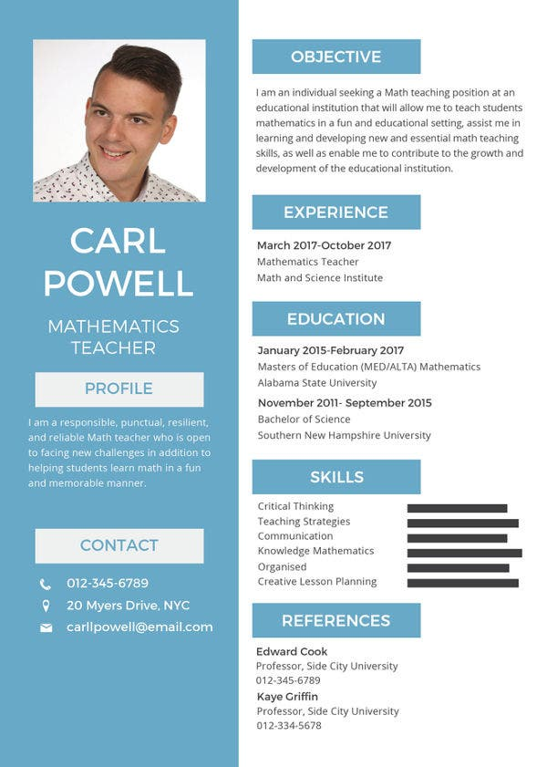 44+ Sample Resume Templates | Free & Premium Templates
