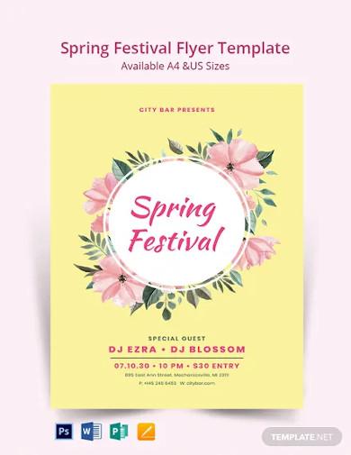 spring festival flyer template1