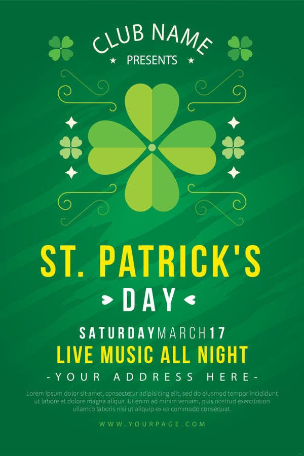 st-patricks-day-poster-template