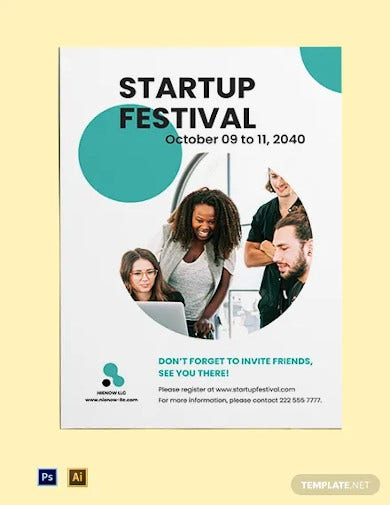 startup event poster template