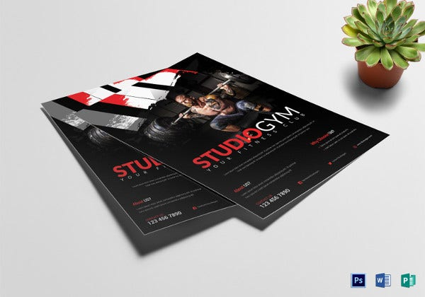 studio-fitness-gym-flyer-template
