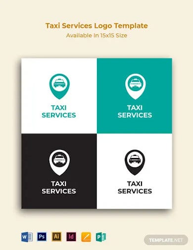 taxi services logo template